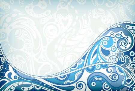 coule: R�sum� Contexte courbe bleue Illustration