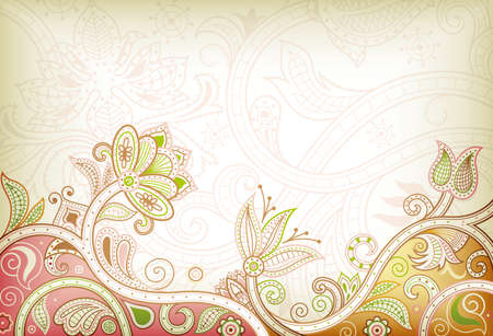 chinese style: Abstract Floral Background