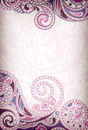 Abstract Purple Curve Vector