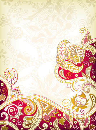 oriental style: Abstract Floral