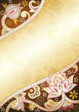 Abstract Brown Floral Vetores