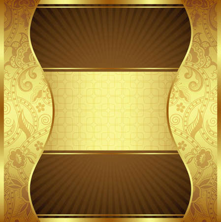 emit: Abstract Gold Background Illustration