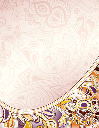 elegant backgrounds: Abstract Curve Floral Background Illustration
