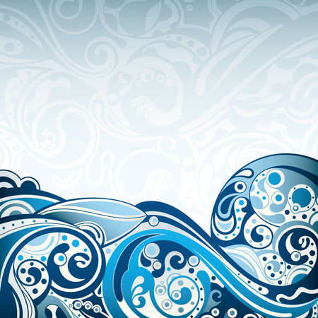seawater: Abstract Blue Curve