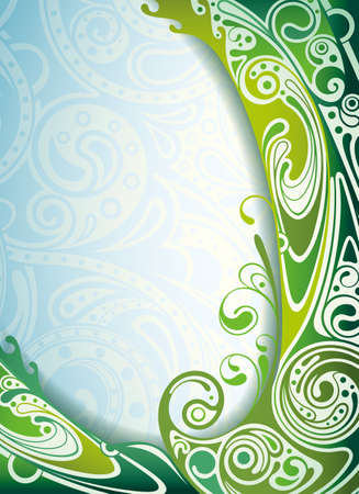 seawater: Abstract Blue and Green Curve Background