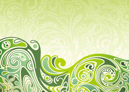 lime green background: Abstract Green Curve Background