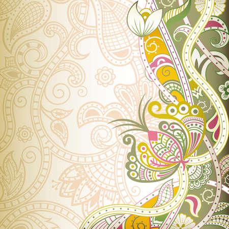 swirly: Floral Swirly Background