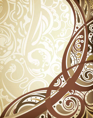 brown swirl: Abstract Chocolate Curve Background