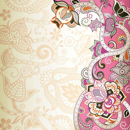 abstract pink: Abstract Pink Floral Background