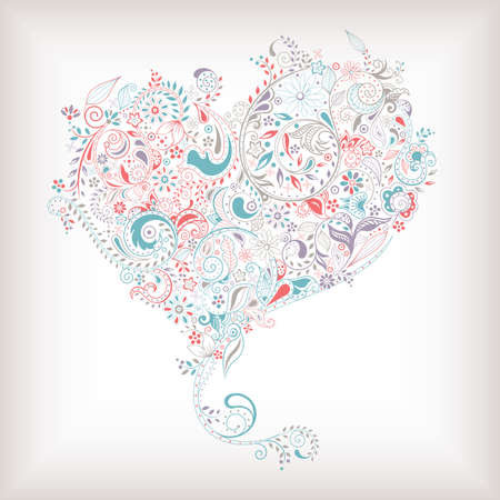 floral vectors: Abstract Heart