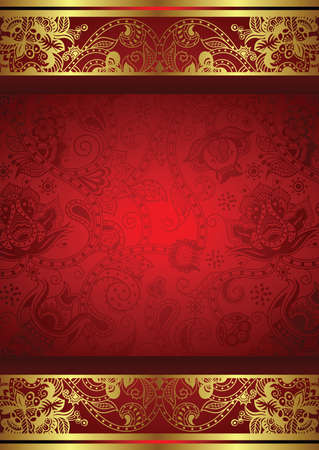 Abstract Floral Frame Background Vettoriali