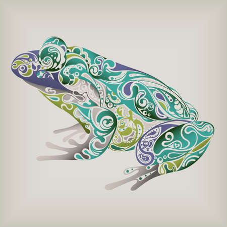amphibian: Abstract Frog Illustration