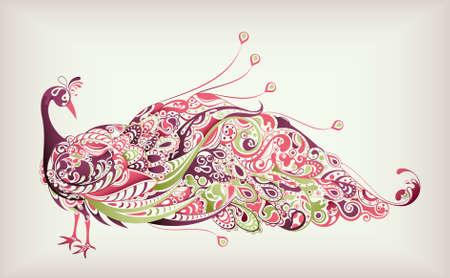 astratto: Estratto Peacock Vettoriali