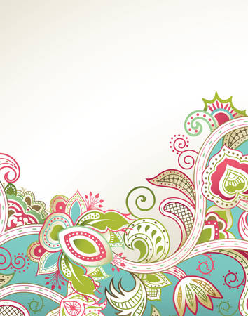 floral vectors: Abstract Floral Background