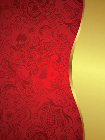 elegant backgrounds: Abstract Gold and Floral Frame Background