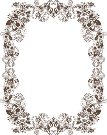 abstract floral: Abstract Floral Frame