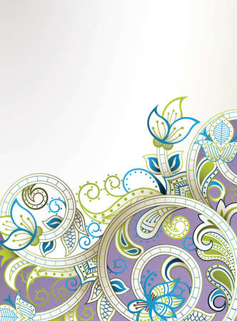 abstract swirls: Abstract Floral Background