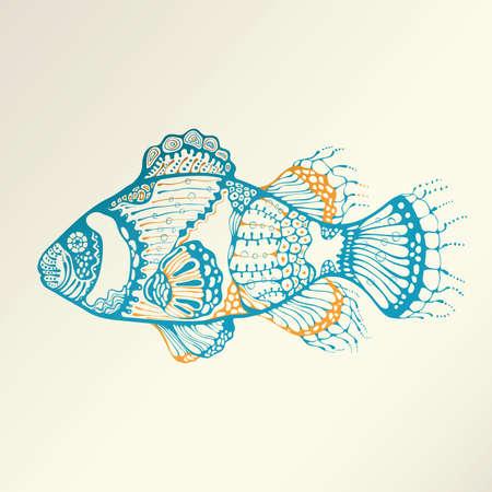 Abstractos tropical Fish  Foto de archivo - 44517643