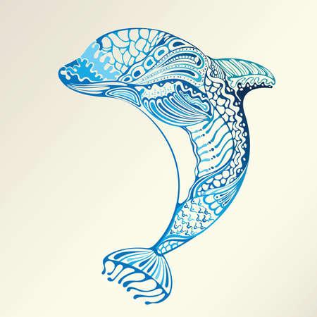 sealife: Abstract Dolphin Illustration