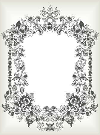 scroll design: Abstract Floral Frame