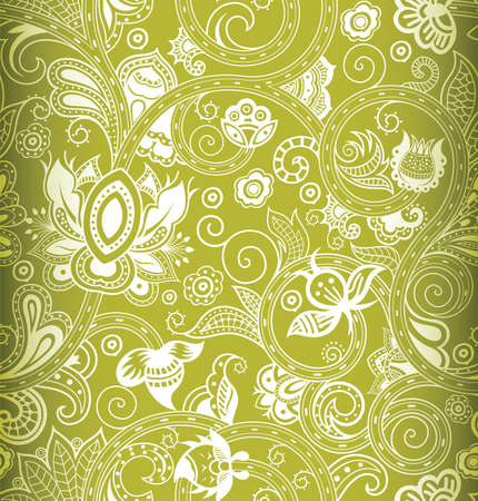 green backgrounds: Abstract Floral Pattern