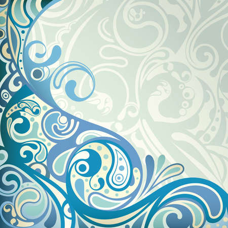 swirls vector: Abstract Blue Curve Background Illustration