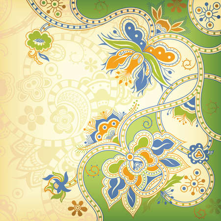 gree: Abstract Floral Background