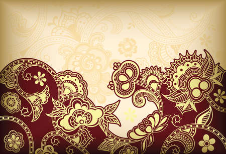 swirls vector: Abstract Floral Background