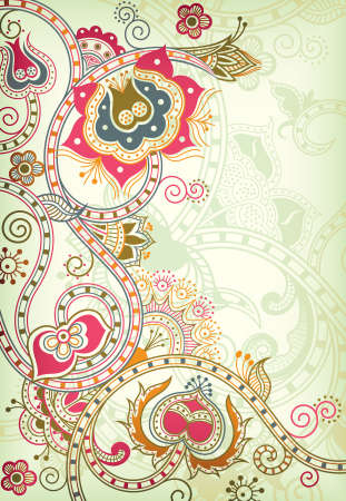 scroll: Abstract Floral Background