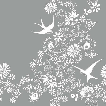 motif floral: Motif floral transparent