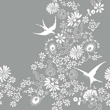 seamless floral pattern: Seamless Floral Pattern Illustration