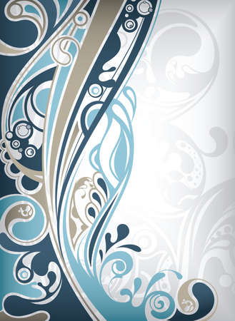 abstract swirls: Abstract Blue Curve