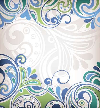 vintage scrolls: Abstract Curve Background