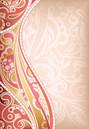 vintage scrolls: Abstract Floral Background