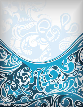 background summer: Abstract Blue Curve