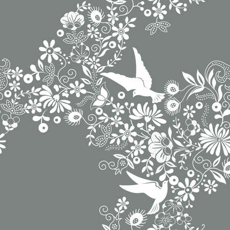 seamless: Seamless Floral Pattern Illustration