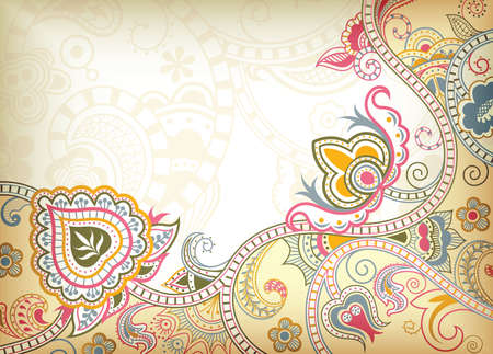 floral scroll: Abstract Floral Background
