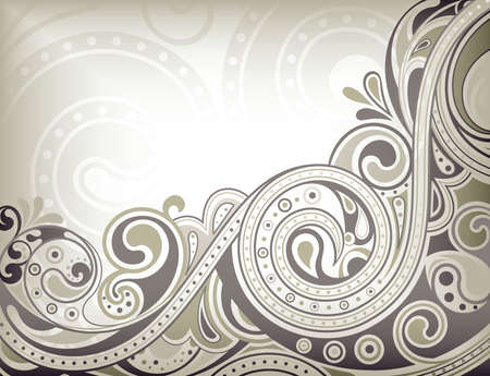 vintage wave: Abstract Curve Background