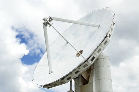 Parabolic antenna of the radio observatory.