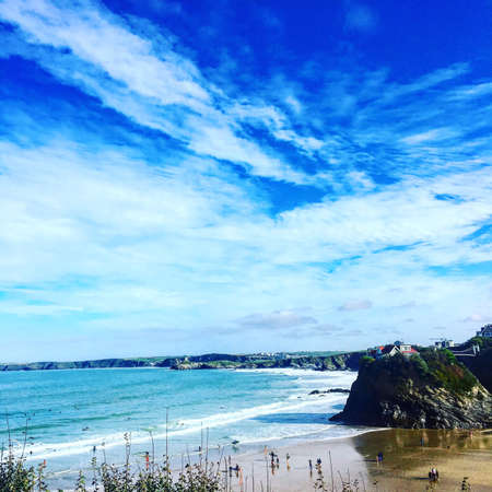 Shot of the beach in Newquay Banco de Imagens