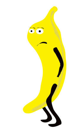 The vector illustration - gloomy banana Vector