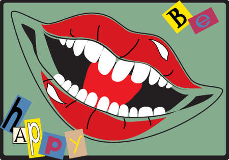 be happy: The vector illustration - Be happy