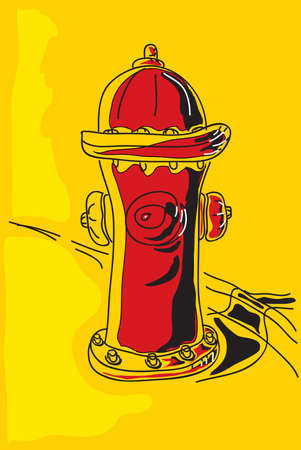 The vector illustration - Fire hydrant Vector