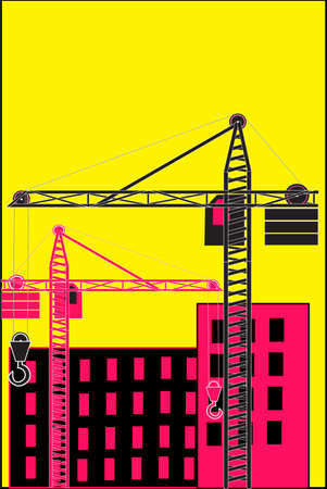 building site: The vector illustration - Building site Illustration