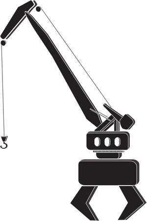 The vector illustration - port crane