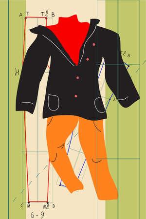 Die Illustration - Kleidung
