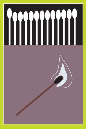 caja de cerillas: La ilustraci�n - coincide