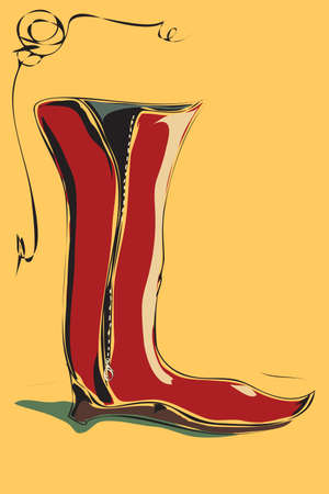 riding boot: The  illustration - riding boot