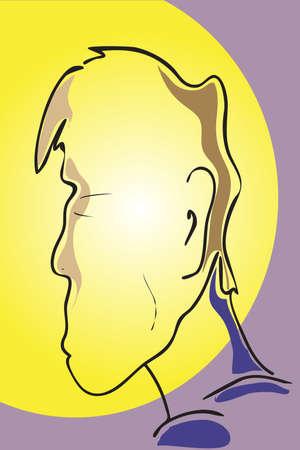 unrecognizable: The vector illustration - man face Illustration