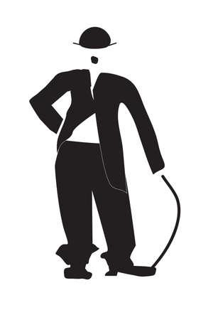 The vector illustration - Charles Chaplin